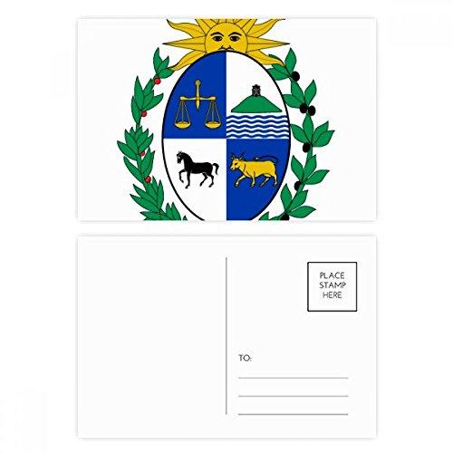 DIYthinker Uruguay Südamerika National Emblem Postkartenset Geburtstag dankt Karte Mailing Side 20pcs 5.7 Zoll x 3.8 Zoll Mehrfarbig