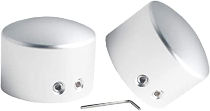 JGR Front Axle Nut Cover Axle Caps for Harley Softail Electra Road Glide Sportster (Silver)