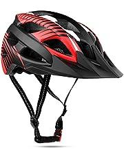 Casco Bicicleta con Visera, Kinglead Protección de Seguridad Ajustable Casco de Bicicleta Ligera para Montar en Bicicleta Casco de Bicicleta BMX Scooter Skate Mountain Road Modelo 001
