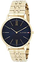 Tommy Hilfiger Mens Analogue Classic Quartz Watch with Gold Plated Strap 1791513