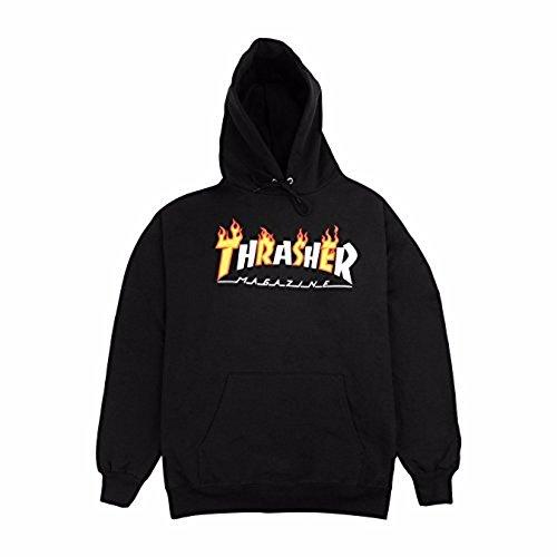 THRASHER SUDADERA Flame Magazine Black SUDADERA (M)