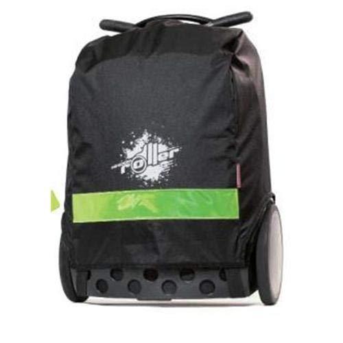Nikidom - Roller XL Rain Cover - Chubasquero para Mochila con Ruedas - Material Impermeable - Banda Reflectante - Color Negro - Medidas 46 x 29 x 20 cm - Accesorios para Trolley Escolar