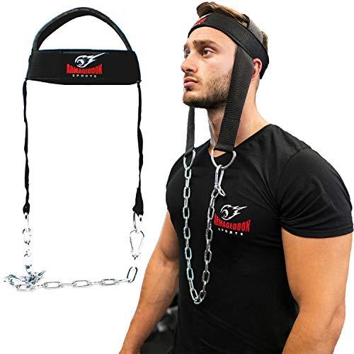 Arnés para Ejercitar el Cuello de Cabeza para Entrenamiento de Resistencia.Y cadena para colocar pesas para hacer ejercicios de levantamiento para trabajo atlético de cuello
