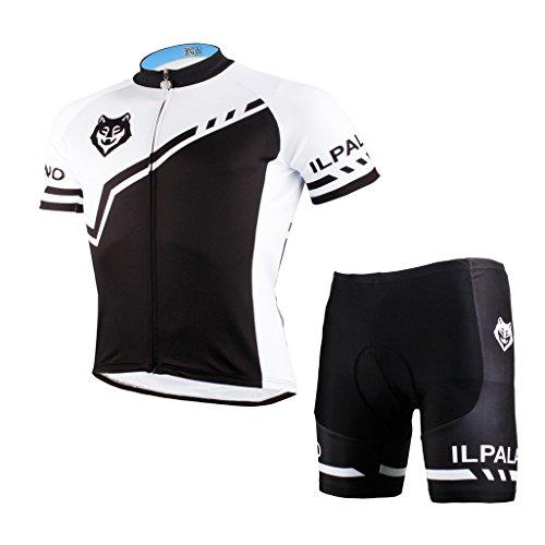 PaladinSport Women's Wolf Logo Quality Breathable Short Sleeve Mountain Bike Clothing Shorts Set Size 4XL