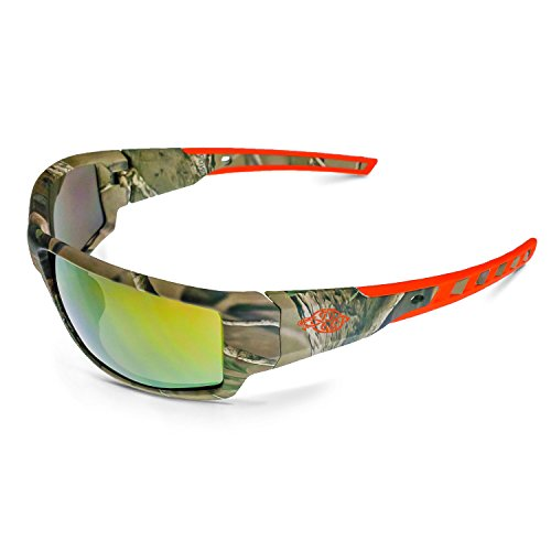 Crossfire 411432 Safety Glasses, Gold Mirror Lens, One Size