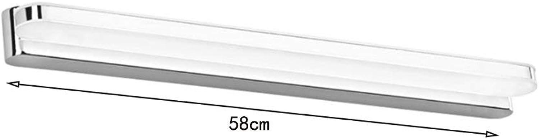 Xiao Yun  Spiegelleuchte LED-Bad Modern und einfach Spiegelleuchte Edelstahl Wasserdichter Nebel Make-up leuchtet warmes Licht 38   118cm lang