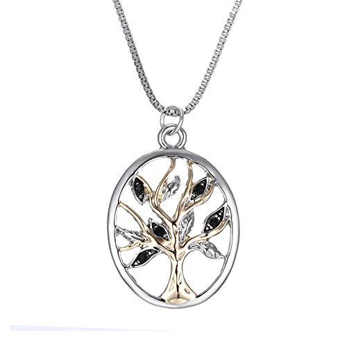 Boom ketting legering trui ketting Lady Fashion holle hanger goud en zilver Inlay geschikt voor cadeaus voor de vrouw