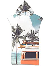 Volwassen strand veranderende jas, sneldrogende Hooded Poncho strandhanddoek badhanddoek geschikt voor surfen zwemmen duikpak verandering, zomerstijl.