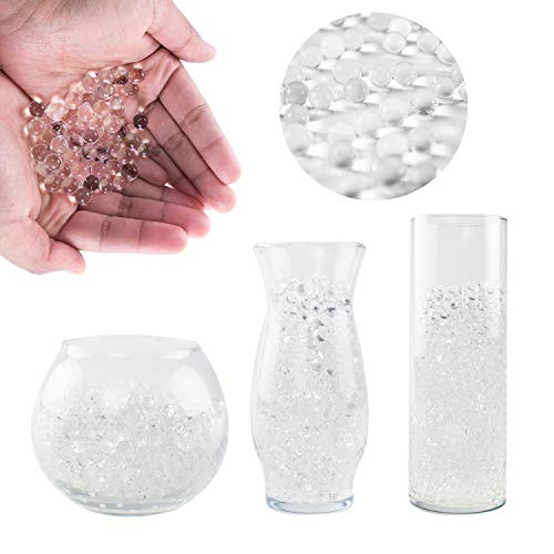 Super Z Outlet 50,000 Crystal Clear Water Gel Beads Pearls for Vase Filler, Wedding Decorations, Sensory Toys Play, Education - 1 Pound Bag