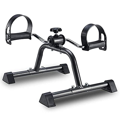 NMDCDH Desk Cycle Foot Pedal Exerciser Portable Foot, Hand, Arm, Leg Exercise Pedaling Machine Mini Stationary Bike Pedaler, Fitness Rehab Gym Equipment for Seniors, Elderly Running Machi