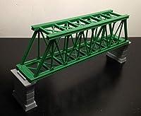 Outland Models 鉄道模型風景 桟橋Zゲージ付きトラス橋-緑/シングル