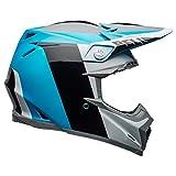 Bell Moto-9 Flex Dirt Helmet (Division Matte/Gloss White/Black/Blue - Large)