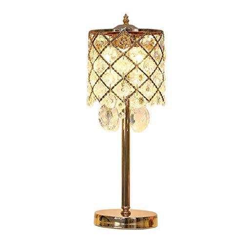 WEI-LUONG Iluminación Decorativa, Reading lámpara- de Noche y lámpara de Mesa Lámparas de Mesa lámpara de Mesa lámpara de Cristal de la lámpara de cabecera Dormitorio Retro Simple de Lujo calienta la