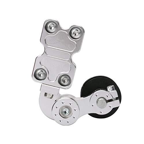 NKJH Motorradzubehör Motocross Buggy Zubehör CNC-Universal-Aluminium-Kette Auto Teller -Spannung (Color : Silver)