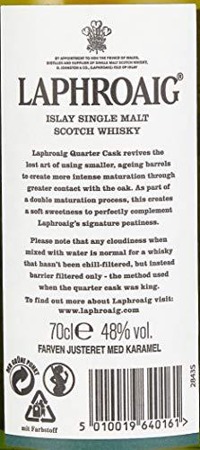 Laphroaig Quarter Cask Islay Single Malt Scotch Whisky, mit Geschenkverpackung, in Quarter Casks gereift, 48% Vol, 1 x 0,7l - 7