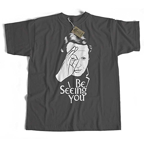 Old Skool Hooligans Tribute to The Prisoner T Shirt - Be Seeing You-Charcoal-XL