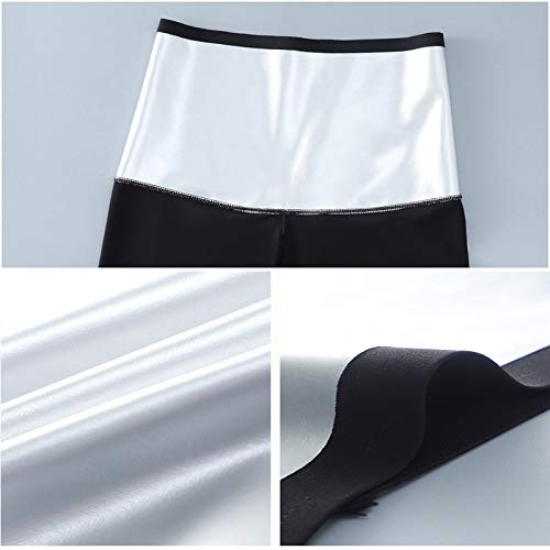 Pantalones para Sudoración Neopreno Mujer Pantalones Sauna Pantalón de Sudoración Leggins Termicos Cintura Alta para Deporte Jogging Yoga Gym (Cortos, M)
