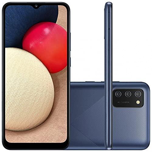 Smartphone Samsung Galaxy A02s Azul 32GB, Tela Infinita de 6.5', Câmera Tripla, bateria 5000mAh, 3GB RAM e Processador Octa-Core
