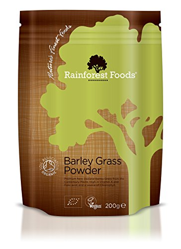 Rainforest Foods Organic New Zealand Barley Grass Powder 200g