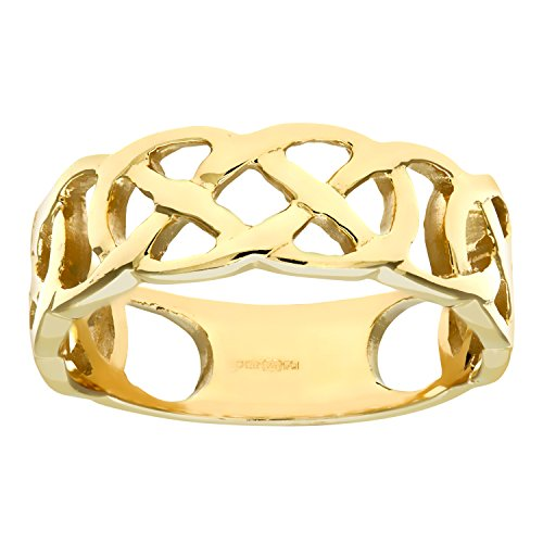 Citerna Women's 9 ct Yellow Gold Band Ring, Size T