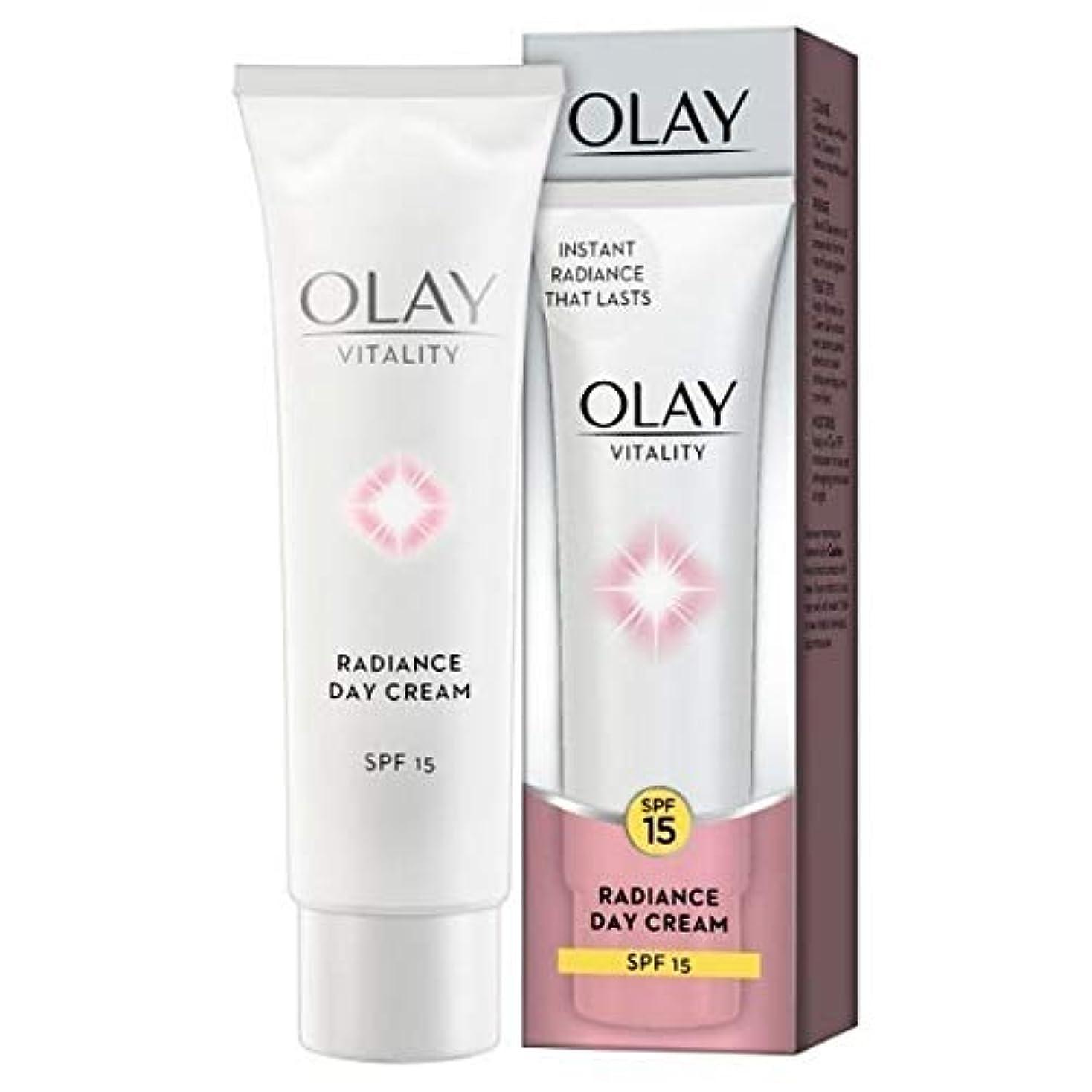 発動機グロー理容師[Olay ] オーレイ活力放射輝度デイクリームSpf15の50ミリリットル - Olay Vitality Radiance Day Cream SPF15 50ml [並行輸入品]