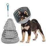 Realove Halskrause Hund Schützender Hundekragen Schutzkragen Krägen Wiederherstellung Schutzhalsbandfür Haustiere (M)