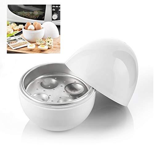 Cuiseur à œufs micro-ondes pour 4 œufs Maker cuisinières rapidement avec recettes Microwave Passe au lave-vaisselle Eimaker