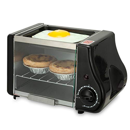 YITEJIA goede hulp voor huismannskost mini elektrische oven roest grill braadpan broodrooster cake broodbakmachine spiegelei omelette ontbijt maker elektrische grill