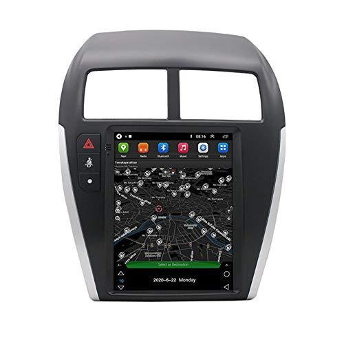 Amimilili Estéreo Multimedia 9.7 Pulgadas 2 DIN Radio para Mitsubishi ASX 2013-2020 con Autoradio GPS Pantalla Táctil Bluetooth Video Cámara de Reversa Bluetooth Manos Libres,4 Cores WiFi 1+16