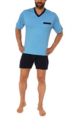 Herren Pflegeoverall kurzam und kurze Hose mit Reissverschluss am Rücken 57687, Farbe:hellblau;Größe:L
