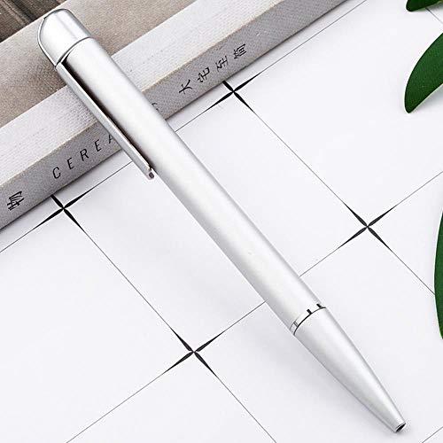 TOPNCMDH Bolígrafo giratorio de metal para negocios Bolígrafo Bolígrafo de metal multicolor al por mayor 5pc @ blanco