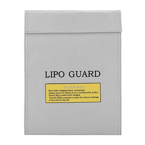 Bolsa de Seguridad para Batería de Li-Po Bolsa de Documentos a Prueba de Fuego Bolsa de Protección de LiPo Bolsa de Protección de Saco de Cargador a Prueba de Fuego Bolsa(Plata 1)