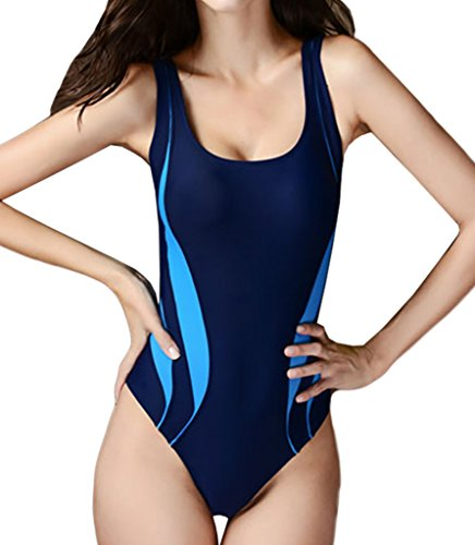 KYL Damen Sportliche Badeanzug Slim Schwimmanzug