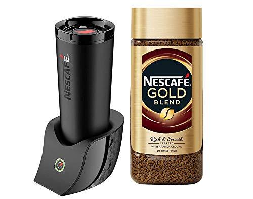 Nescafé É Smart Coffee Maker + Nescafe Gold Rich and Smooth Coffee Powder, 100g Glass Jar