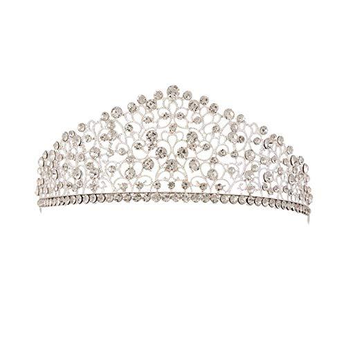 Weimay Kristall Diademe Strass Hochzeit Stirnbänder Gold Heller Diamant Krone Braut Tiara Kristall Haarschmuck Hochzeit Mode Stirnband Schmuck Dekoration