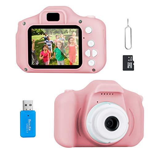 Cámara Digital para Niños, Jooheli Cámara Infantil con Tarjeta de Memoria Micro SD 32GB Digital Video Cámara Cumpleaños Regalos para Niños y Niñas de 3 a 12 Años (Rosado)