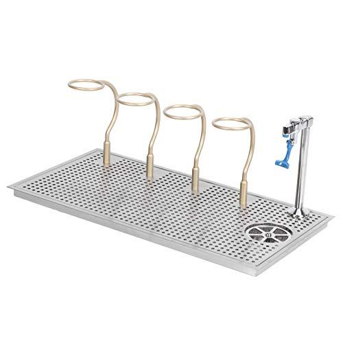 Lavadora de vasos de barra, acero inoxidable, salida de agua de múltiples ángulos Lavadora de vasos enjuagadora en aerosol, con 4 portavasos, limpiador automático de vasos, para cocina, bar, cafetería