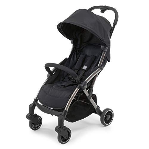 Chicco Cheerio - silla de paseo ligera, con plegado automático y compacto, soporta hasta 15kg del niño, color negro (jet black), unisex
