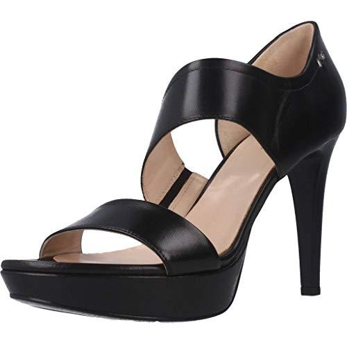 Sandalo da Donna NeroGiardini in Pelle Nero E012810D. Scarpa dal Design Raffinato. Collezione Primavera Estate 2020. EU 37