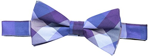 Tommy Hilfiger Men's Buffalo Tartan Pre-Tied Bow Tie, Purple, One Size