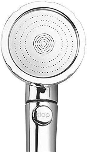 Cabezal de Ducha Lluvia para Baño Grifo de ducha de mano con interruptor de pulverización de 5 modelos Cabezal de ducha de alta presión multifuncional para baño de baño Ducha de lluvia de alta presión