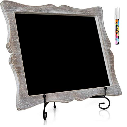 """11""""x13"""" Chalkboard Sign with Easel (Rustic Brown) + White Liquid Chalk Marker 