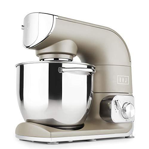 BOJ Robot de Cocina amasador FP-5500M con Bol INOX de 5,5 litros Full Metallic de 1.200W
