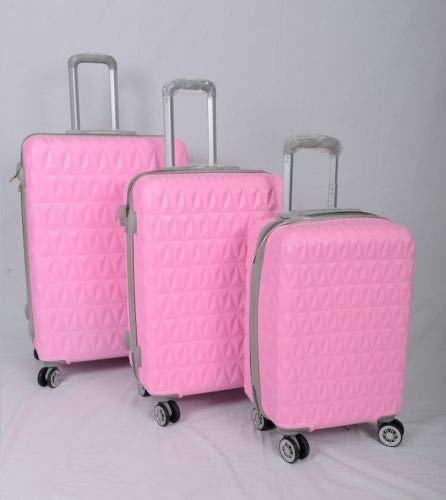 GXK Black/Pink Suitcase 4Wheel Spinner Hard Shell Luggage Trolley Case 20' 24' 28' (Color : Pink, Size : 28+#034;)