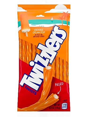 Twizzlers Twists - Orange Cream Pop Filled Candy (Pack of 2)