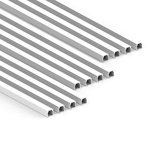 Habengut - Canaleta para Cables (autoadhesiva, 15 x 15 mm, PVC, 12 m de Longitud), Color Blanco