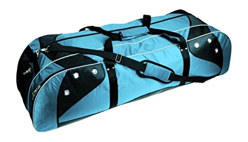 Martin Sports Deluxe Lacrosse Player's Bag Holds Two Sticks Col Blue On Black, 42