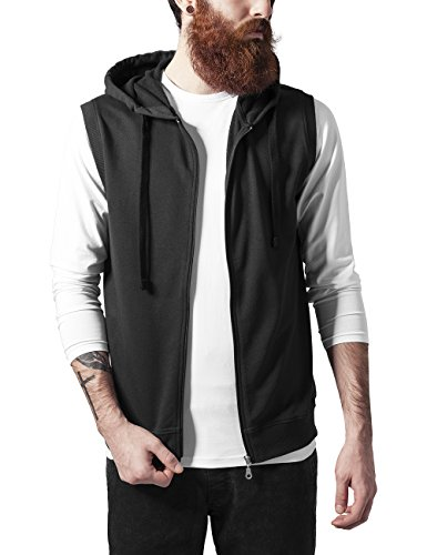Urban Classics Męska bluza z kapturem bez rękawów, Terry Zip Hoody