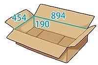 In The Box ダンボール 段ボール「衣類用I(894×454×高さ190mm) 10枚」茶色