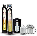 SoftPro Elite High Efficiency 80,000 Grain Whole House Water Softener System with Carbon Filter, Reverse Osmosis Water Filtration System, 10% Resin Media, and Bypass Valve (Ultimate Package.)